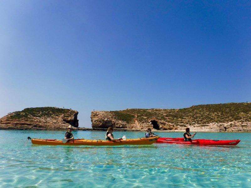 Kayak Gozo and Comino beautiful coast