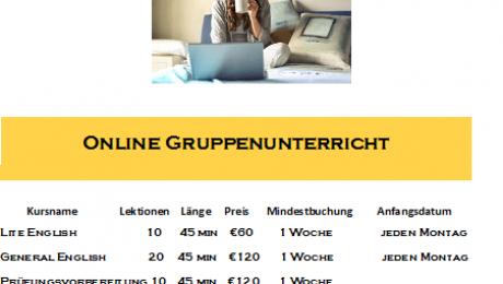 Online-Unterricht mit Zoom!
